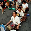 Stock Photo: Chiang Mai, Thailand: Four Blind Musicians at Sunday Walking Street Market