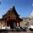 Stock Photo: Chiang Mai, Thailand: VihHall at Wat Chang Taem