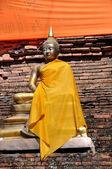Chiang Mai, Thailand: Gilded Buddha Statue at Wat Lok Molee — Stock Photo