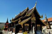 Chiang Mai, Thailand: Teakwood Vihan at Wat Inthakhin Saduemuang — Stock Photo