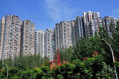 Chengdu, China: Towering Apartment Buildings — Stock Photo