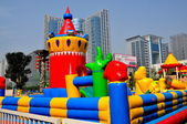 Chendgu, China: Magical Kingdom Infalted Children's Playground — Stock Photo