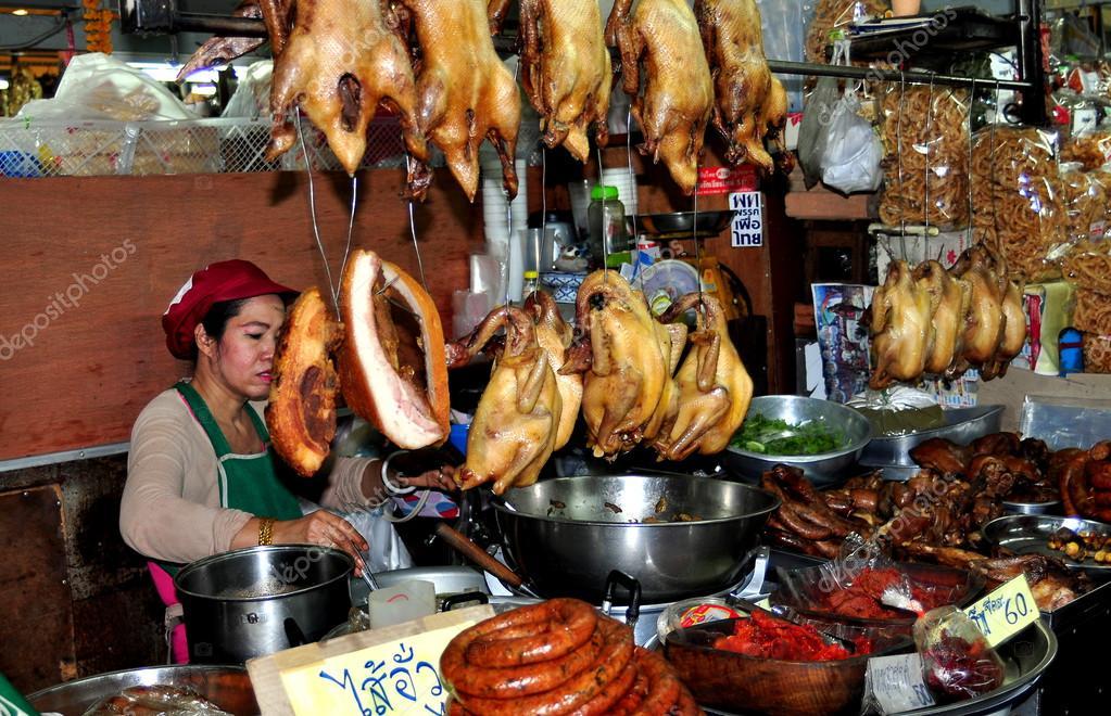 Chiang mai tha lande vendeur au warowot cuisine du for Vendeur cuisine