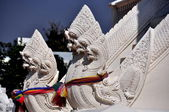 Chiang Mai, Thailand: Naga Figures at Wat Suan Dok — Stock Photo
