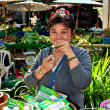 Chiang Mai, Thailand:  Thai Woman Selling Gift Products — Stock Photo