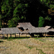Chiang Mai, Thailand: Hill Tribe Village Farm Buildings — Stock fotografie