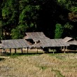 Stock fotografie: Chiang Mai, Thailand: Hill Tribe Village Farm Buildings