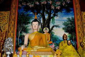 Chiang Mai, Thailand: Buddha Statues at Wat Chedi Liem — Zdjęcie stockowe