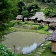 Chiang Mai, Thailand: Cluster of Farm Houses at Baan Tang Luan Cultural Village — Stock Photo