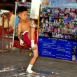 Chiang Mai, Thailand:  Little Boy Demonstrating Kick Boxing — Stock Photo