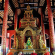 Chiang Mai, Thailand:  Interior of Phra Wihan Lai Kham at Wat Phra Singh — Stock Photo