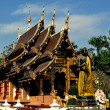 Stock Photo: Chiang Mai, Thailand: VihHall at Wat Chedi Liem