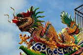 Chiang Mai, Thailand: Dragon at Pung Tao Gong Ancestral Temple — Stock Photo