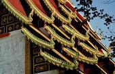 Chiang Mai, Thailand: Ubosot Hall Roofs at Wat Ku Tao — Stock Photo