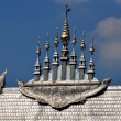 Chiang Mai, Thailand: Seven Spires Atop VihHall at Wat Sri Suphan — Stock Photo #36859645