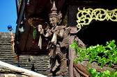 Chiang Mai, Thailand: Carved Aponsi at Wat Ket Karem — Stock Photo