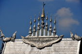 Chiang Mai, Thailand: Seven Spires Atop Vihan Hall at Wat Sri Suphan — Stock Photo