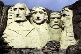 Bilund, Denmark: Mount Rushmore Presidents at Legoland — Stock Photo
