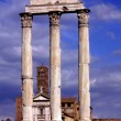 Rome, Italy: Temple of Castor and Pollux in Ancient Roman Forum — Stock Photo #37019277