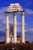 Rome, Italy: Temple of Castor and Pollux in Ancient Roman Forum — Stock Photo