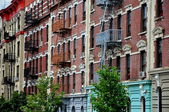NYC: West Side Tenement Buildings — Stock Photo