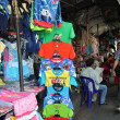 Bangkok, Thailand: Clothing on Sale at Thanon Ratchaprasong Outdoor Street Market — Stock Photo #37819785