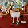 Stock Photo: Bangkok, Thailand: Christmas Reindeer Decorations on BTS Skywalk