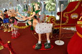 Bangkok, Thailand: Christmas Reindeer Decorations on BTS Skywalk — Stock Photo