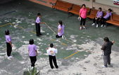 Bangkok, Thailand: School Children Jumping Rope — Stock Photo