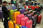 Bangkok, Thailand: Luggage Display in ZEN department store — Stock Photo