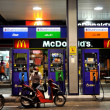 Stock Photo: Bangkok, Thailand: McDonald's Fast Food Restaurant and Gas Station