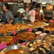 Постер, плакат: Bangkok Thailand: Display of Thai Foods at Or Tor Kor Market