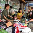 Stock fotografie: Bangkok, Thailand: People Shopping for Bargain Clothing on Silom Road