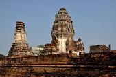 Lopburi, Thailand: Great Prangs at 13th Century Khmer Wat — Foto Stock