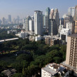 Stock Photo: Bangkok, Thailand: Towering Hotels, Office Buildings, and AmericEmbassy Grounds