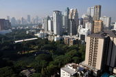 Bangkok, Thailand: Towering Hotels, Office Buildings, and American Embassy Grounds — Stock Photo