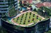 Bangkok, Thailand: Plaza Athenee Hotel Roof Garden — Stock Photo
