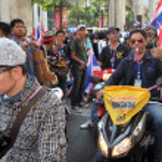 Bangkok,Thailand: Operation Shut Down Bangkok Demonstrators — Stock Photo