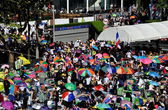 Bangkok,Thailand: Operation Shut Down Bangkok Demonstrators — Stock Photo