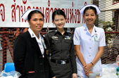 Bangkok, Thailand: Medical Staff at Anti-government Demonstrations — Stock Photo