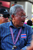 Bangkok, Thailand: Suthep Thaugsuban, PDRC Leader who is Attempting to Overthrow the Thai Government — Stock Photo