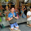 Stock Photo: Bangkok, Thailand: People Praying at ErawShrine