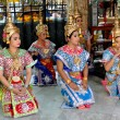 Stock Photo: Bangkok, Thailand: Khong Dancers at ErawShrine