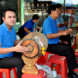 Stock Photo: Bangkok, Thailand: Musicians at ErawShrine