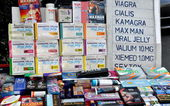 Bangkok, Thailand: Sexual Enhancement Products Sold on Street — Stock Photo