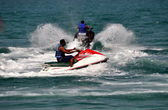 Pattaya, Thailand: Men on Jet Skis — Stock Photo