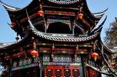 Pengzhou, China: Ornate Chinese Pagoda at Long Xing Temple — Stock Photo
