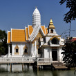 Stock Photo: Pattaya, Thailand: White Pavilion and Prang at Wat Chai Mongkhon