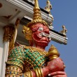 Pattaya, Thailand: Red-Faced Yak Guardiat Wat Chai Mongkhon — Stock Photo #39602181