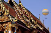 Pattaya, Thailand: Vihara Hall at Wat Chai Mongkhon — Stockfoto